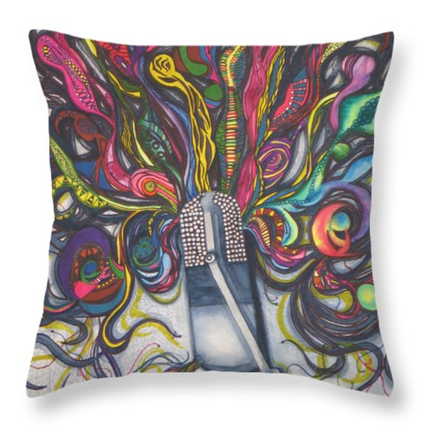 Let Your Music Flow In Harmony Throw Pillow by Chrisann Ellis