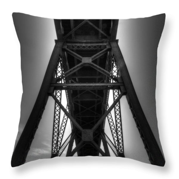 Lethbridge High Level Bridge 4 Throw Pillow by Bob Christopher