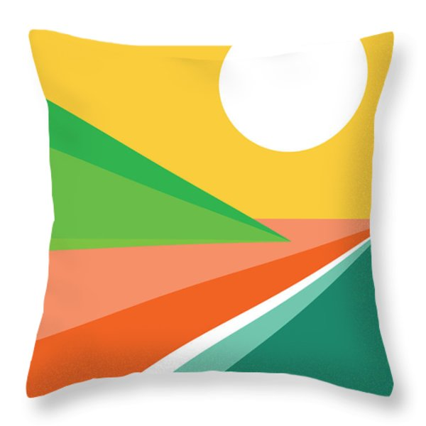 Let's all go to the beach Throw Pillow by Budi Kwan