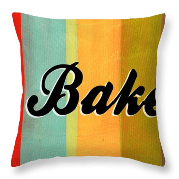 Let's Bake This Throw Pillow by Linda Woods