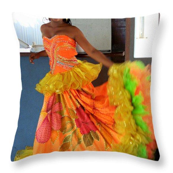 Lets Celebrate Throw Pillow by Karen Wiles