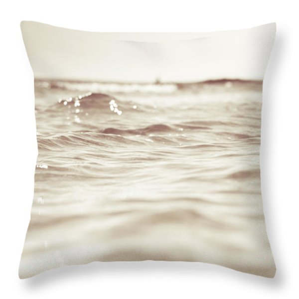Lets Go To The Bleech Throw Pillow by Happy Melvin
