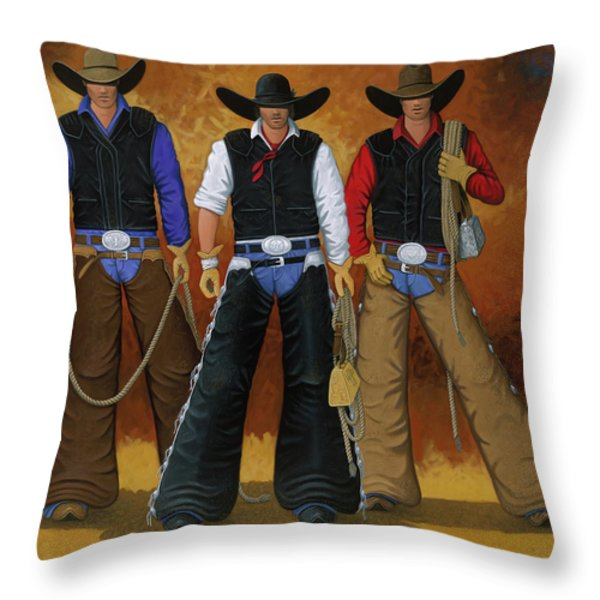 Let's Ride Throw Pillow by Lance Headlee