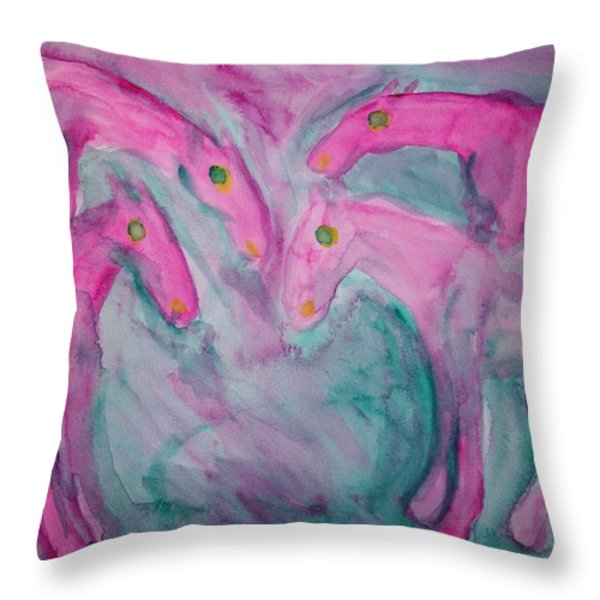 Lets stick together  Throw Pillow by Hilde Widerberg
