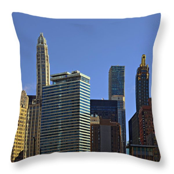 Let's talk Chicago Throw Pillow by Christine Till