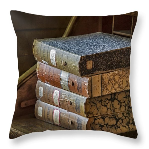Letters Throw Pillow by Susan Candelario