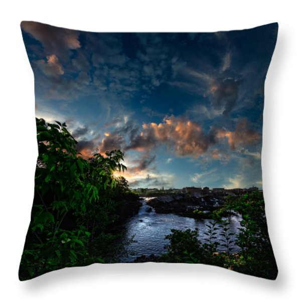 Lewiston In July Throw Pillow by Bob Orsillo