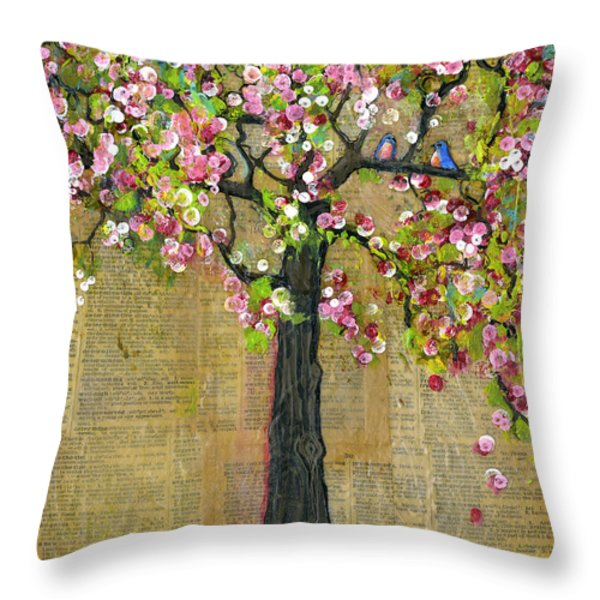 Lexicon Tree of Life 4 Throw Pillow by Blenda Studio