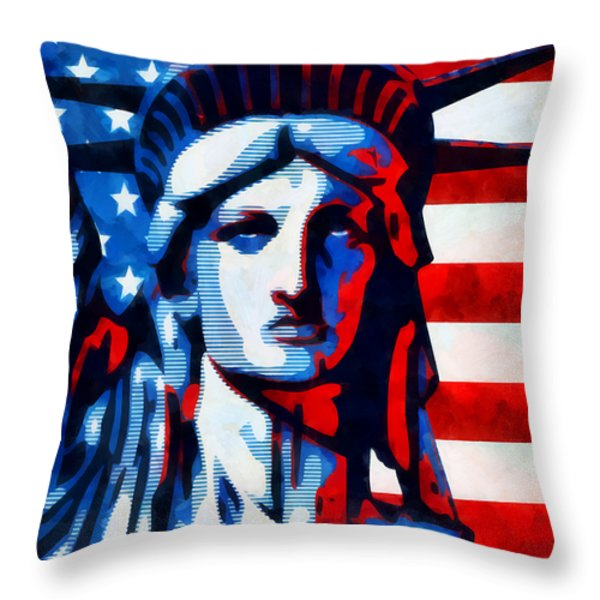 Liberty 1 Throw Pillow by Angelina Vick