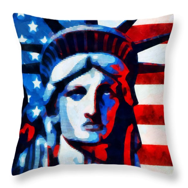 Liberty 2 Throw Pillow by Angelina Vick