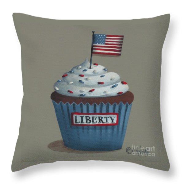 Liberty Cupcake Throw Pillow by Catherine Holman