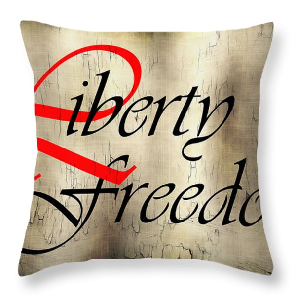 LIBERTY FREEDOM Throw Pillow by Daniel Hagerman