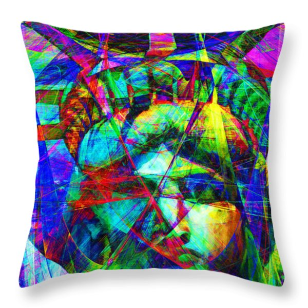 Liberty Head Abstract 20130618 Throw Pillow by Wingsdomain Art and Photography