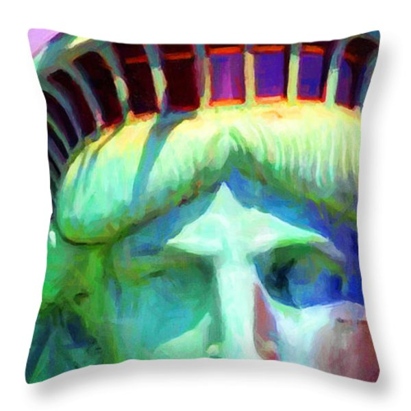 Liberty Head Painterly 20130618 Long Throw Pillow by Wingsdomain Art and Photography