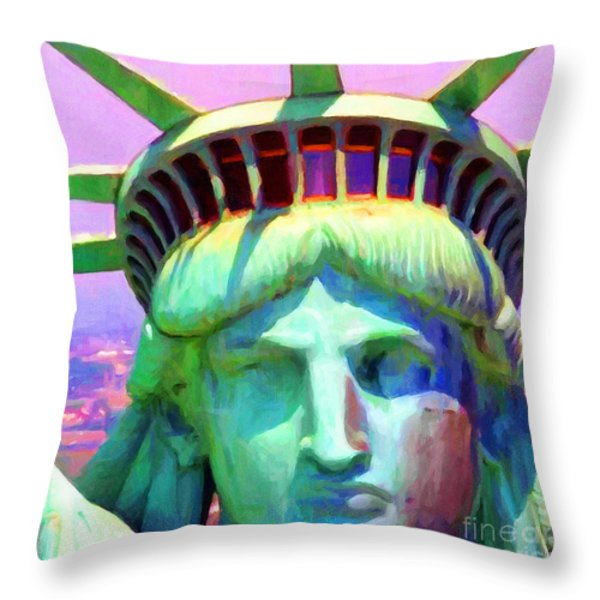 Liberty Head Painterly 20130618 Square Throw Pillow by Wingsdomain Art and Photography