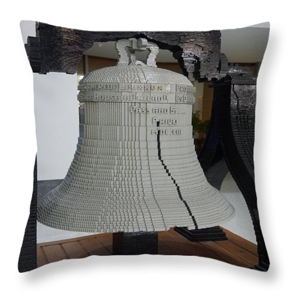 Liberty in Lego Throw Pillow by Richard Reeve