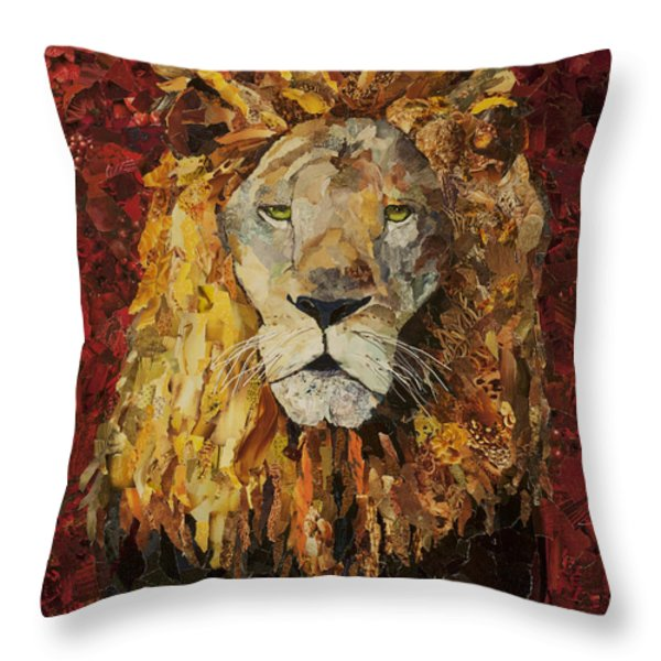 Liberty Lion Throw Pillow by Claire Muller