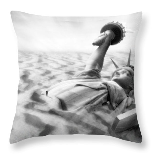 Liberty Park II Panoramic Throw Pillow by Mike McGlothlen