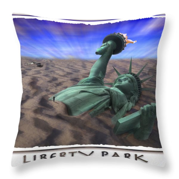 Liberty Park Throw Pillow by Mike McGlothlen