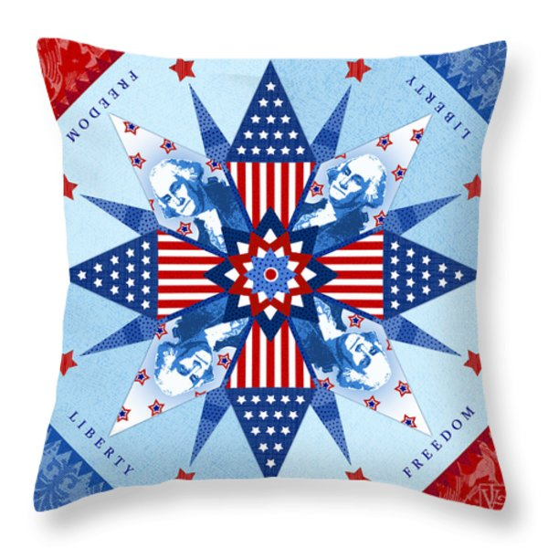 Liberty Quilt Throw Pillow by Valerie Drake Lesiak