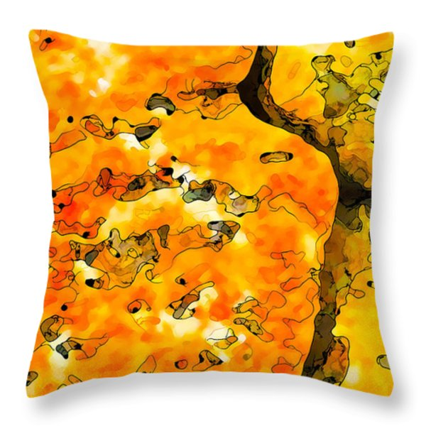 Lichen Abstract 2 Throw Pillow by Bill Caldwell -        ABeautifulSky Photography