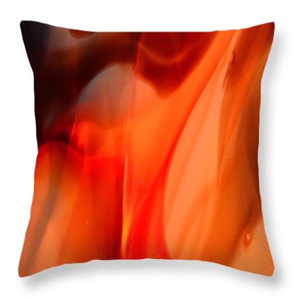 Licking Flame Throw Pillow by Lauren Hunter