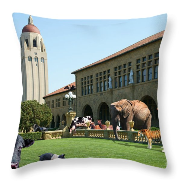 Life Down On The Farm Stanford University California Dsc685 Throw Pillow by Wingsdomain Art and Photography