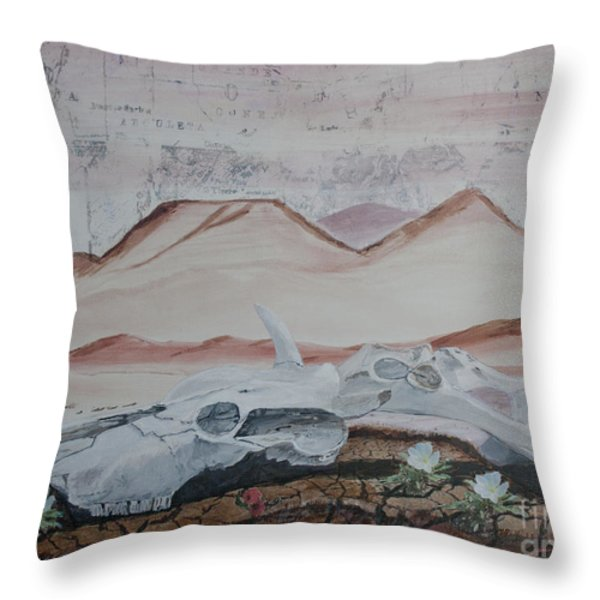 Life From Death In The Desert Throw Pillow by Ian Donley