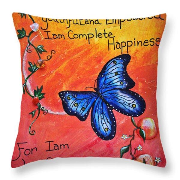 Life - Healing Art Throw Pillow by Absinthe Art By Michelle LeAnn Scott