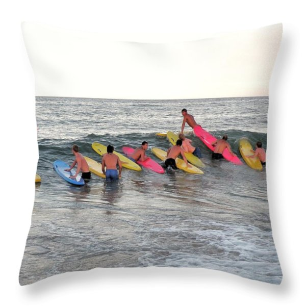 Lifeguard Competition Throw Pillow by Kim Bemis