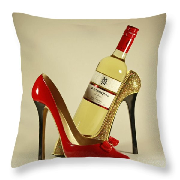 Life's Finer Moments With Vintage Pinot Wine Throw Pillow by Inspired Nature Photography By Shelley Myke