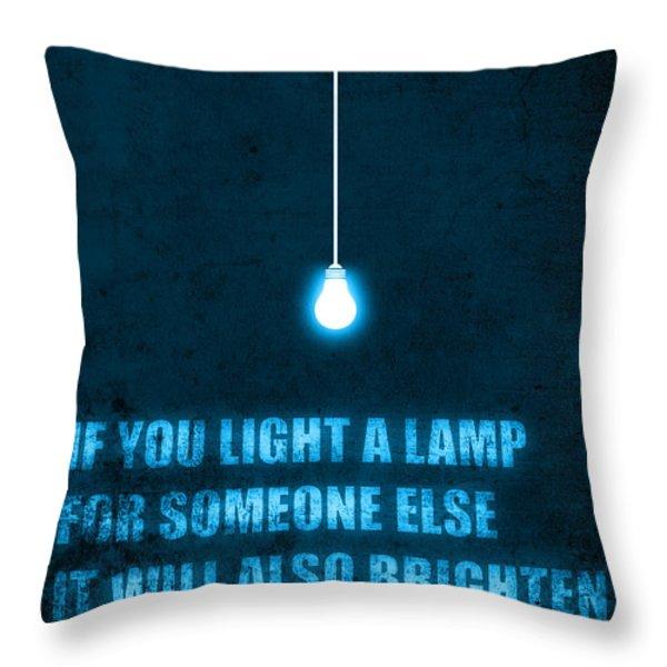 Light a lamp Throw Pillow by Budi Kwan