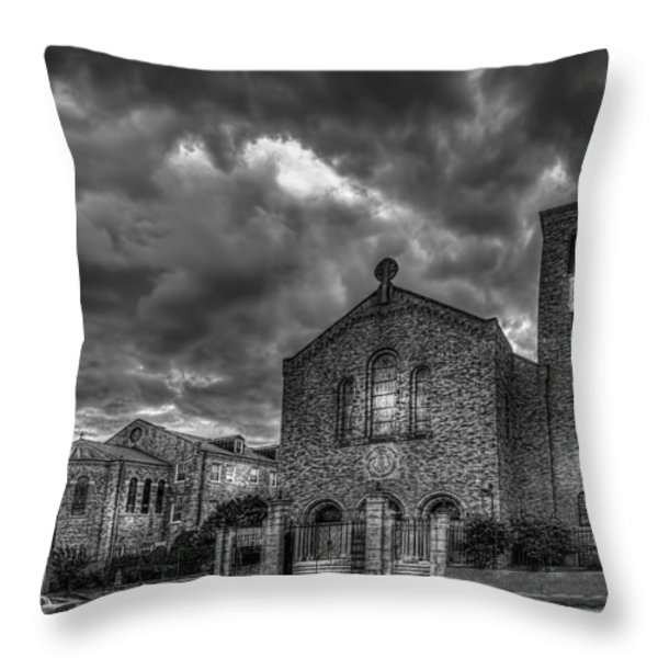 Light Above the Church Throw Pillow by Marvin Spates