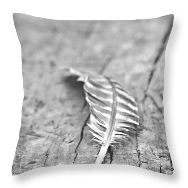 Light As A Feather Throw Pillow by Chastity Hoff