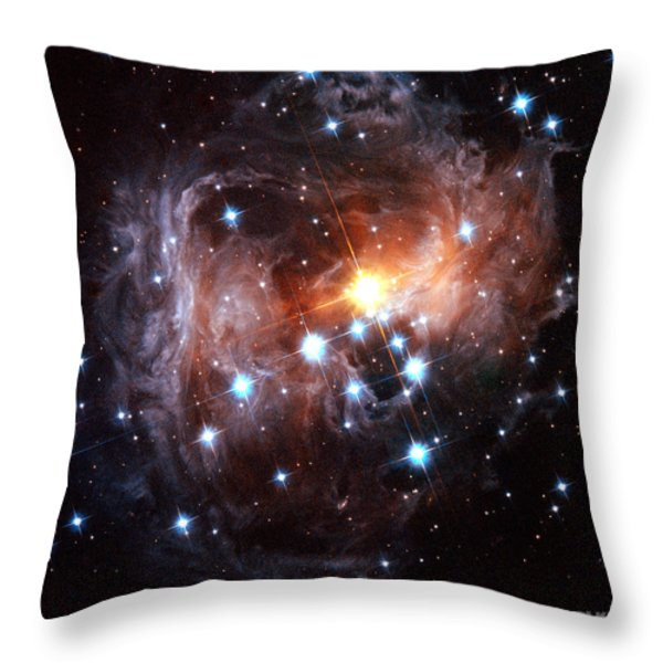 Light Echo Around Star V838 Monocerotis Throw Pillow by Science Source