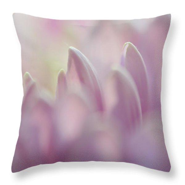 Light Impression 1. Pink Chrysanthemum  Throw Pillow by Jenny Rainbow