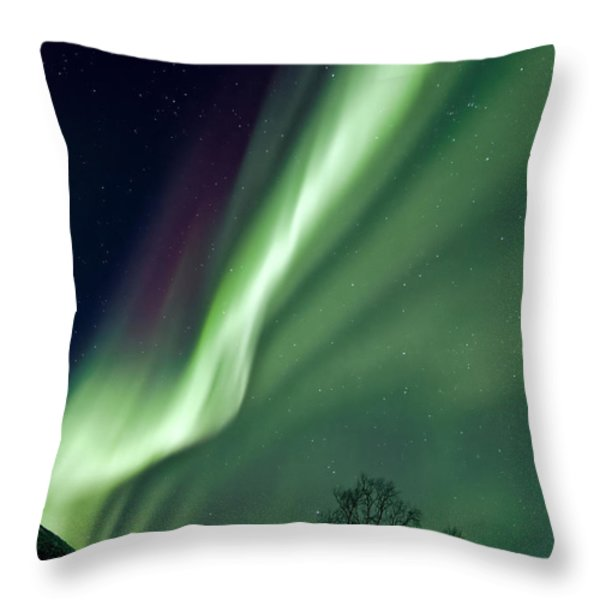 Light In The Sky Throw Pillow by Dave Bowman