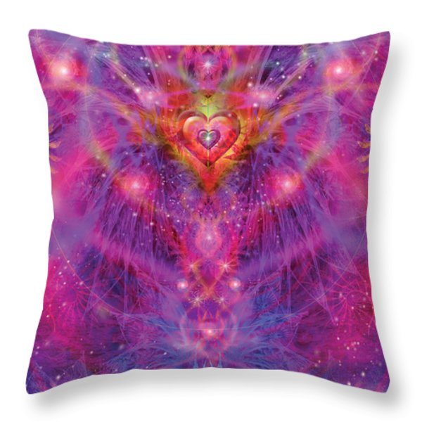 Light Of Passion Reborn Throw Pillow by Alixandra Mullins
