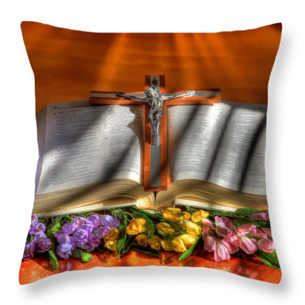 Light of the World Throw Pillow by Donna Kennedy