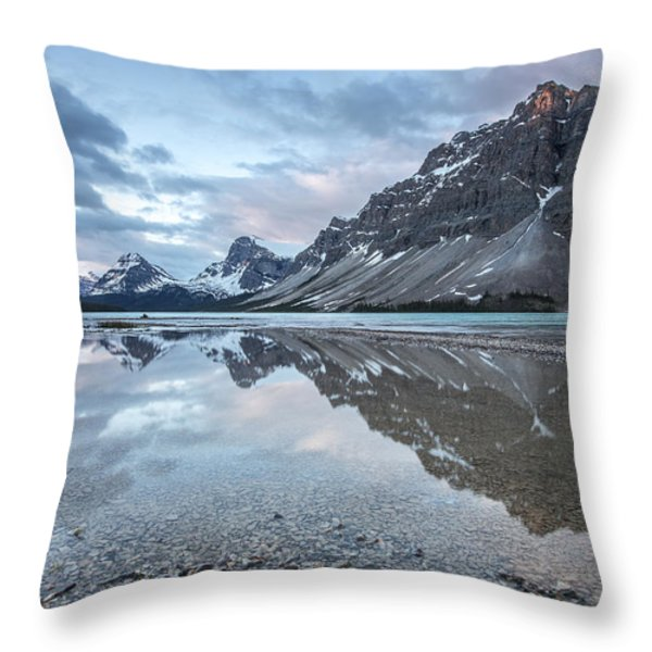 Light on the Peak Throw Pillow by Jon Glaser