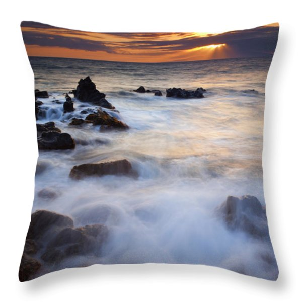 Light Over Lanai Throw Pillow by Mike  Dawson