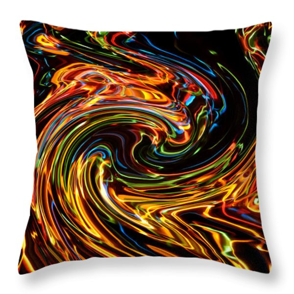 Light painting 2 Throw Pillow by Delphimages Photo Creations