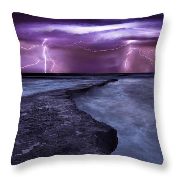 Light symphony Throw Pillow by Jorge Maia