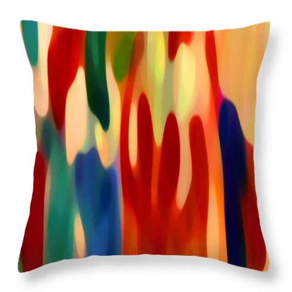 Light Through Flowers Throw Pillow by Amy Vangsgard