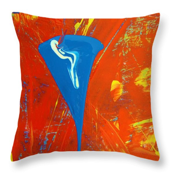 Light Up Your Splif Throw Pillow by Artist Ai