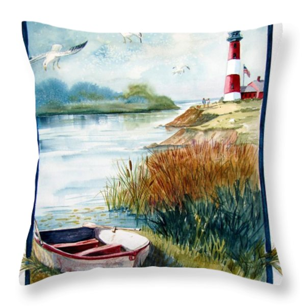 Lighthouse 1 Throw Pillow by Marilyn Smith