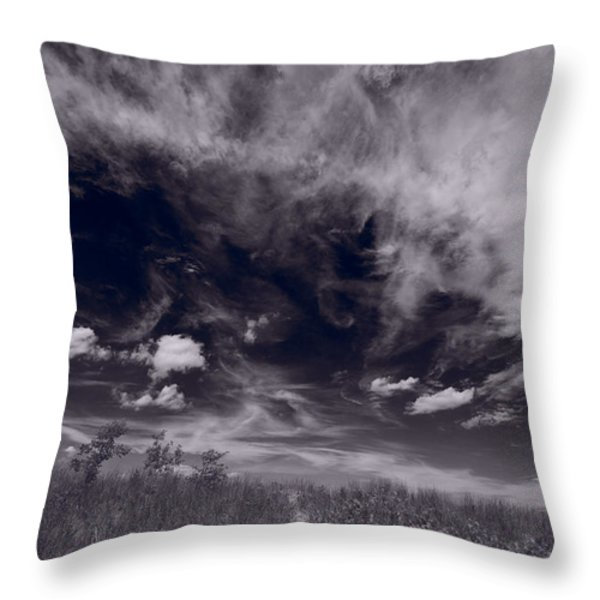 Lighthouse Beach Dunes Bw Throw Pillow by Steve Gadomski