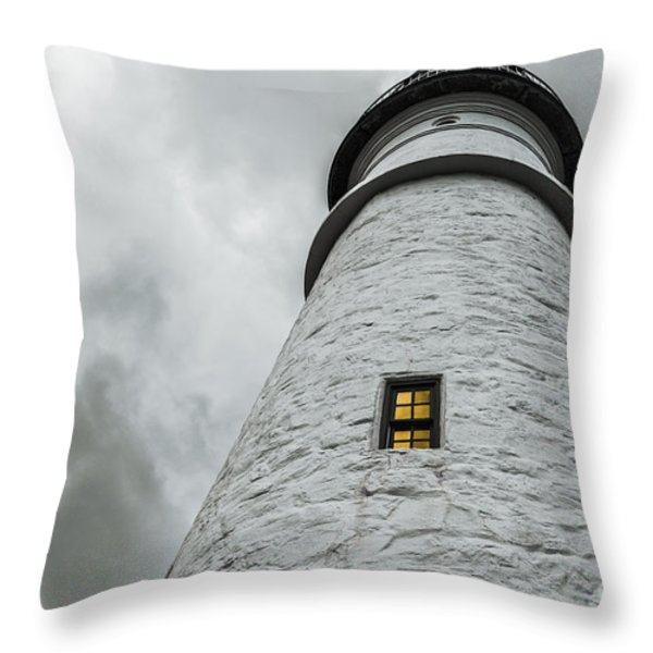 Lighthouse Throw Pillow by Diane Diederich
