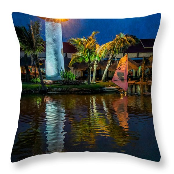 Lighthouse Reflection Throw Pillow by Adrian Evans