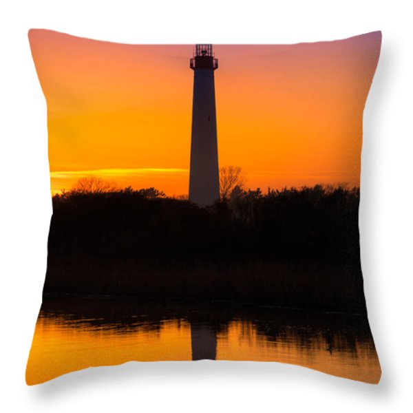 Lighthouse Silhouette Throw Pillow by Michael Ver Sprill